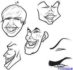 how to draw a caricature step 3