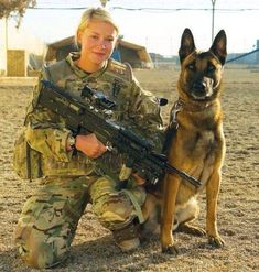 Female Warrior w/ K9
