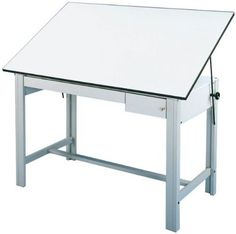 Experience a higher level of strength in your art and drafting table!The DesignMaster art and drafting table by Alvin is a table of superior strength Utrecht, Table Frame, A Table, Steel Drawing, Wood Drafting Table, Computer Desk With Hutch, Solid Wood Desk, White Laminate, Table Height