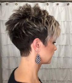 Pixie Haircut For Thick Hair, Short Choppy Hair, Funky Short Hair, Super Short Hair, Short Hair Older Women, Short Hair With Layers, Short Hair Cuts For Women Over 40, Thick Hair Haircuts, Short Stacked Hair