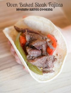 Oven Baked Beef Steak Fajitas make dinner fun and delicious. They are perfect served wrapped in a warm flour or corn tortilla, perfect to make gluten-free too. Slow Cooker Recipes, Beef Recipes, Cooking Recipes, Recipies, Dinner Dishes, Food Dishes, Lamb Dishes, Entree Recipes, Mexican Food Recipes