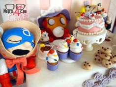 The Most Adorable Avengers Tea Party Cake You'll Ever See