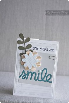 Notebook Paper Background, Smile, Blueprints 14 Die-namics, Flower Medley Die-namics, Smile Die-namics - Keisha Campbell #mftstamps