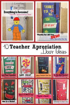 10 Awesome Teacher Appreciation Ideas for Door Decorating at OneCreativeMommy.com