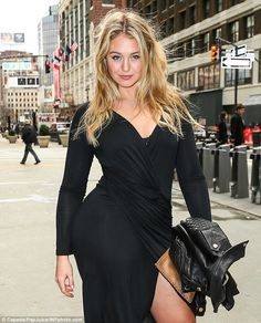 Strike a pose: Iskra Lawrence showed off her curves in New York City on Thursday while on her way to host an event raising awareness for eating disorders