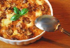 Sütőben sült gombás-sajtos gnocchi