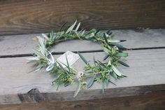 The Bloom Bar Co. Olive leaf and Rosemary fresh flower halo. Flower crown