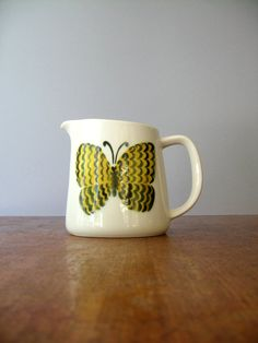 Mid Century Arabia Finland Butterfly Pitcher by luola on Etsy