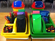 I would use this for management in the classroom so each set of desks has the right amount of supplies and the room isn't so chaotic.