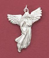 """Sterling Silver Pendant, 1-3/8 inch long, Angel, 5.1 grams""http://www.silvermessages.com/sterlingsilverjewelry/category/christmas.html"