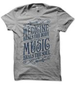 Music Heals T-Shirt Heather Gray by Status Serigraph. I have an unhealthy love for t shirts Look T Shirt, Music Heals, I Love Music, Music Music, Music Stuff, Heather Black, Swagg, Great Quotes, Dress To Impress