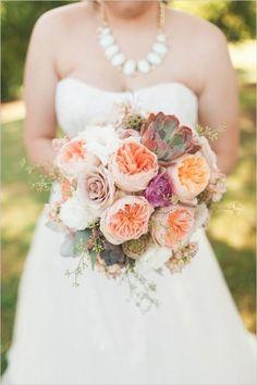 Oklahoma Peach und Mint Sukkulenten Hochzeitstag