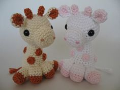 Crocheted Baby Giraffe PDF Pattern by djonesgirlz on Etsy, $6.00