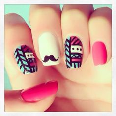 Amazing Nails love the tribal print