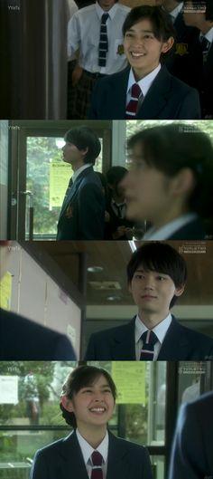 """El día de los resultados, Kotoko va a ver los de Naoki, mientras que él va a revisar los de Kotoko. Cuando se encuentran ambos se felicitan, ya que ella logró estar entre los 100 mejores. Después de que le devuelve la foto, Kotoko le dice la cita de Chesterfield: """"Es importante saber lo que puedes y no puedes hacer. Si tienes la fuerza de voluntad y perseverancia, tendrás éxito al final"""" - Itazura na Kiss Love in Tokyo Episodio 2"""