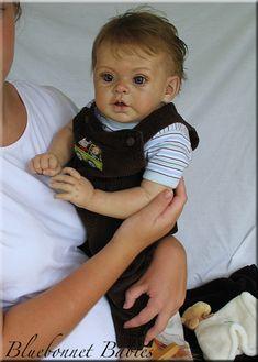 Graysen toddler sculpt by Andrea Arecello/Bluebonnet Babies Reborn Nursery