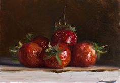 strawberries; postcards from Provence