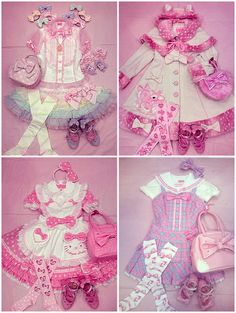 Angelic pretty's lolita pieces co-ordanited to fairy kei