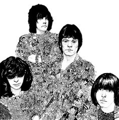 Types with character.  Nearly all Ramones tracks in handwritten fonts.