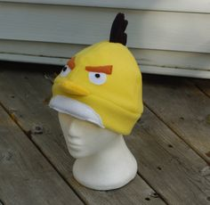 Yellow Angry Bird Fleece Hat.