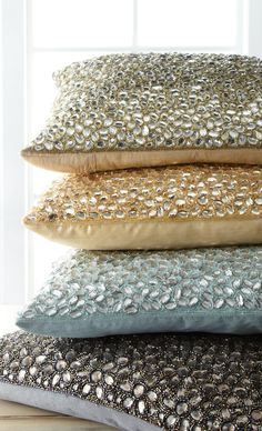 Jeweled pillows. These are so pretty, but I couldn't imagine them being very comfortable