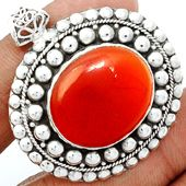 Carnelian 925 Sterling Silver Pendant Jewelry CRNP658