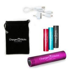 Pink USB Portable Charger Compact Lipstick Power Bank Portable Pink Charger for your Iphones, Ipads, iPad 5, 5s, 4S, 4, 3GS Mini, Samsung Galaxy 2, S3, S4, S5, Droids, Nokia, and Tablets, Android Smart Phones, and other USB-charged devices. ChargerSticks is a slim and lightweight Samsung Lithium-ion Battery that fits in every Hand Bag or pocket with a multi-purpose kit that will charge your USB devices anywhere and anytime! Protect Your Investment With Our Rock Solid, Iron Clad One Year ...