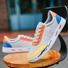 Fashion Men Casual Shoes Sneakers Men Flats Vulcanized Shoes Outdoor Outfit Accessories From Touchy Style Running Shoe Reviews, Best Running Shoes, Womens Fashion Sneakers, Fashion Men, Fashion Flats, Sports Shoes For Girls, Casual Shoes, Men Casual, Everyday Shoes