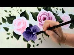 ▶ Paint a purple pansy - YouTube