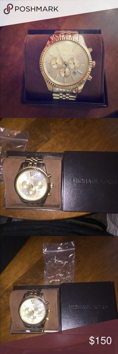 🔥Michael Kors men's Gold Wrist Watch Beautiful gold Michael Kors watch. Comes with chains to adjust to wrist, and box for display/storage. Great condition. Great for pulling off the professional look and turns heads. Can't tell you the compliments I've gotten on this piece. Great deal, won't be on here long! KORS Michael Kors Accessories Watches