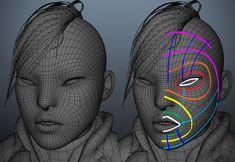 Working on the topology of the face // The Making Of 'Baby Cakes' by Henrique Naspolini
