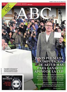 La portada de ABC del miércoles 30 de septiembre