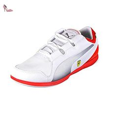 Puma Court Star Craft S6 - Sneakers Basses - Mixte Adulte - Blanc (White/High RiskRouge) - 44 EU (9.5 UK) JHQj5Lgtz
