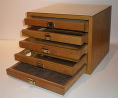 Untitled (wooden box with 5 drawers) by Richard Artschwager