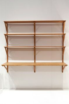 Bookshelf/desk, designed by Börge Mogensen for Fredericia Stolefabrik, Denmark. 1956.                 Designed by Börge Mogensen for Erhard ...