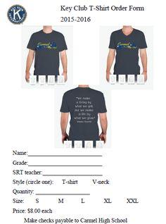 Generic TShirt Order Form Template  TShirt Order Forms