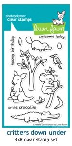 Lawn Fawn CRITTERS DOWN UNDER Clear Stamps at Simon Says STAMP!