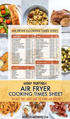 Wondering how to adjust your favorite recipes for cooking in the air fryer? Wondering how to adjust your favorite recipes for cooking in the air fryer? This handy Air Fryer Cooking T Air Fryer Cooking Times, Cooks Air Fryer, Air Fryer Oven Recipes, Air Fryer Dinner Recipes, Air Fryer Recipes Vegetables, Power Air Fryer Recipes, Cooking Vegetables, Healthy Recipes, Cooking Recipes