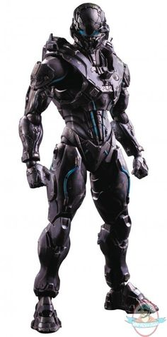 Halo 5 Play Arts Kai Spartan Locke Action Figure | Man of Action Figures