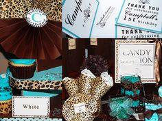 Leopard and Tiffany Blue Birthday Party Set by My Lady Dye, via Flickr