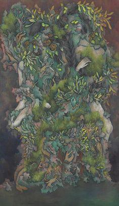 你是花兒我是狼 吳珮頎 膠彩畫 116.5x91cm