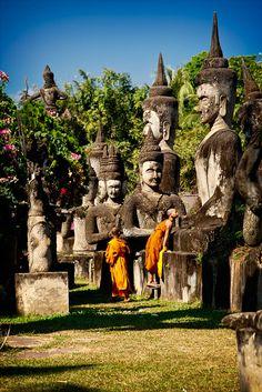 Lost in Hindu/Buddhist translation, Thadeua, Laos by phitar