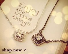 Love these Crystal Square Pendant Necklaces from Chloe + Isabel. Very affordable, too!