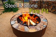 DIY Steel and Stone Firepit