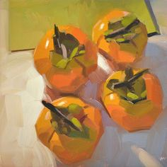 Carol Marine's Painting a Day: Persimmon Pilgrimage