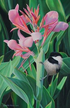 What a beautiful delicate painting! DPW Fine Art Friendly Auctions - A Friendly Reminder by Leslie Macon