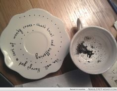 From Mugglenet user Felicia Mcbride- painted ceramics :) Harry potter