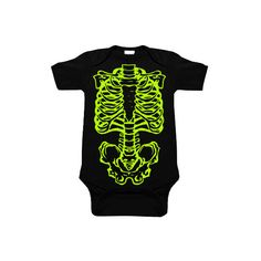 883b7c335 Skeleton Black & Lime One Piece ($19) ❤ liked on Polyvore featuring baby  and kids