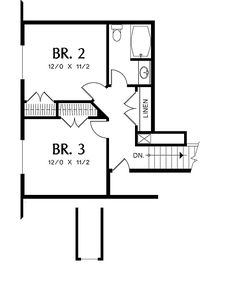 Cottage House Plan with 3 Bedrooms and 2.5 Baths - Plan 5269