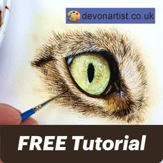 Watercolor Video, Watercolour Tutorials, Watercolour Painting, Watercolors, Watercolor Paintings Of Animals, Animal Paintings, Painting Fur, Painting & Drawing, Painting Lessons
